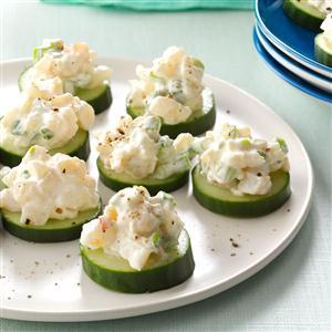 Shrimp & Cucumber Rounds Recipe