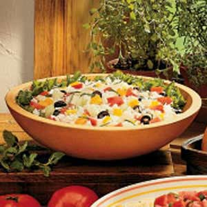 Garden Herb Rice Salad Recipe