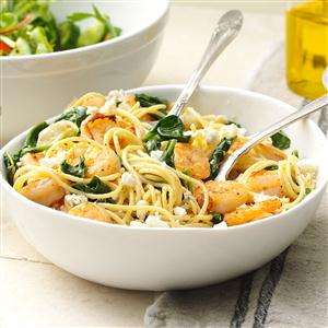 Rosemary Shrimp with Spaghetti Recipe