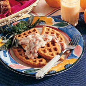 Herbed Waffles with Creamed Beef Recipe