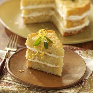 Italian Triple Lemon Cream Cake Recipe
