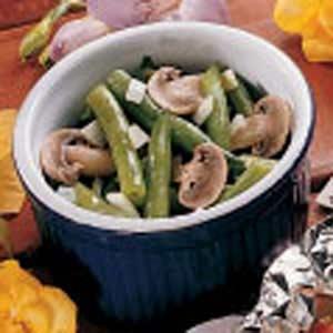 Fresh Green Beans with Mushrooms Recipe