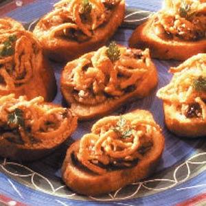 Cheesy Mushroom Crostini Recipe