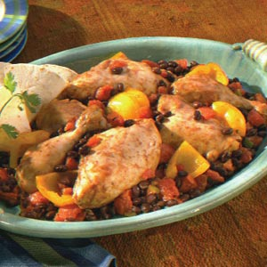 Fiesta Chicken with Peppers & Black Beans Recipe