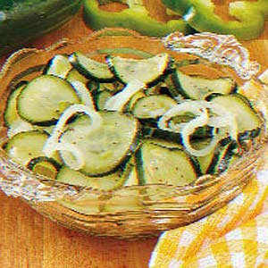 Ziploc Sweet 'N' Tangy Freezer Pickles Recipe