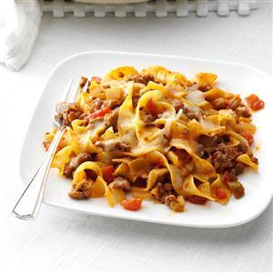 Fiesta Beef & Noodle Skillet Recipe