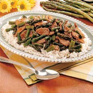 Gingered Pork and Asparagus Recipe