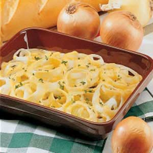 Cheesy Baked Onions Recipe