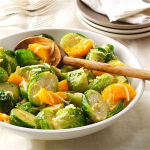 Brussels Sprouts and Mandarin Oranges Recipe