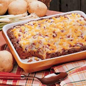 Potato-Topped Chili Loaf Recipe