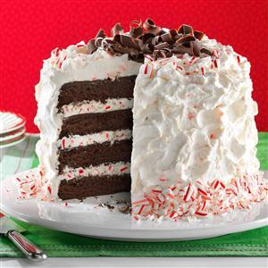 Fudgy Peppermint Stick Torte Recipe