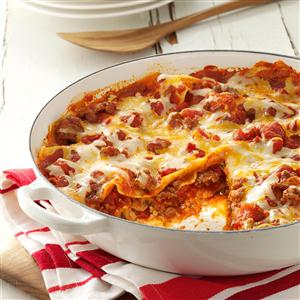 Perfect One Skillet Lasagna Recipe