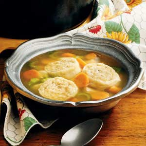 Chicken Soup with Stuffed Noodles Recipe