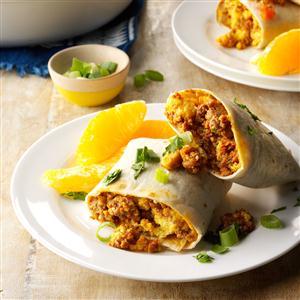 Eggs & Chorizo Wraps Recipe