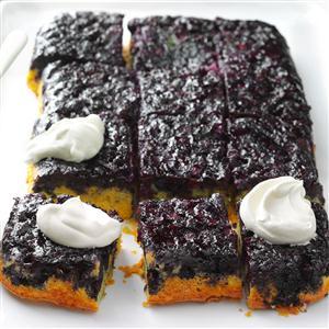 Blueberry-Lemon Upside-Down Cake Recipe