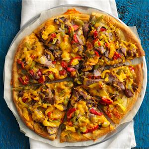 Fast Philly Cheesesteak Pizza Recipe
