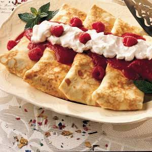 Fruit-Topped Blintzes Recipe