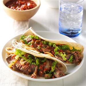 Cilantro Beef Tacos Recipe