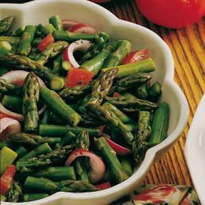 Asparagus-Tomato Salad with Dressing Recipe