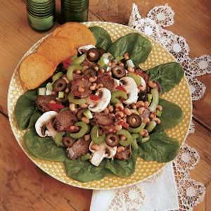 Pork and Spinach Salad Recipe