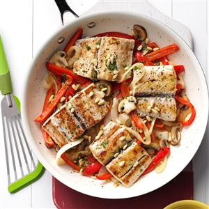 Mahi Mahi & Veggie Skillet Recipe