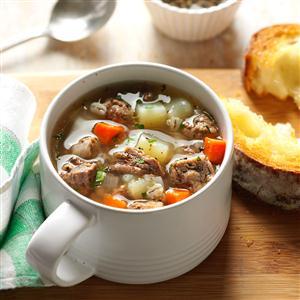 Ground Beef Barley Soup Recipe