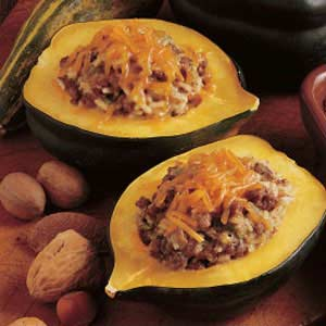 Beef-Stuffed Acorn Squash Recipe