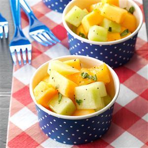 Honey-Melon Salad with Basil Recipe