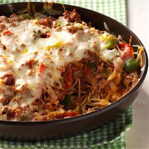 Cheesy Pizza Casserole Recipe