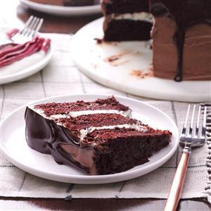 Three-Layer Chocolate Ganache Cake Recipe