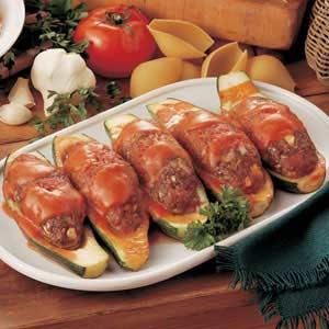 Meatball Stuffed Zucchini Recipe