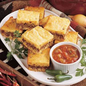 Zesty Beef Cornbread Dinner Recipe