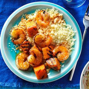 Shrimp & Sweet Potato Skewers Recipe