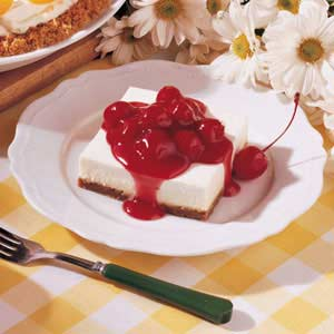 Cinnamon Cherry Cheesecake Squares