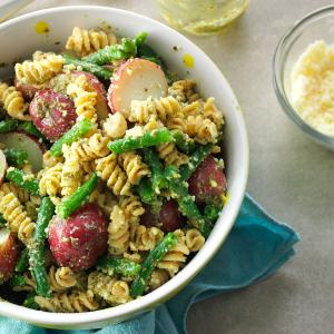 Pesto Pasta & Potatoes Recipe
