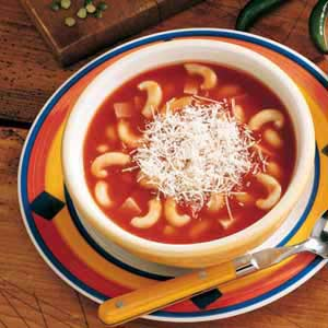 Italian Macaroni Soup Recipe