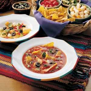 Avocado and Olive Taco Soup Recipe