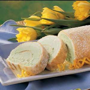 Rainbow Sherbet Cake Roll Recipe