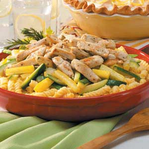 Pasta with Chicken and Squash Recipe
