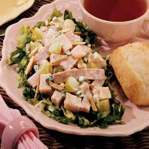 Turkey and Ham Salad with Greens Recipe