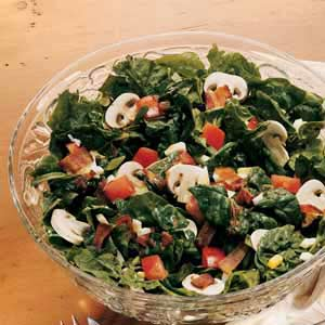 Spinach Salad with Honey-Bacon Dressing Recipe