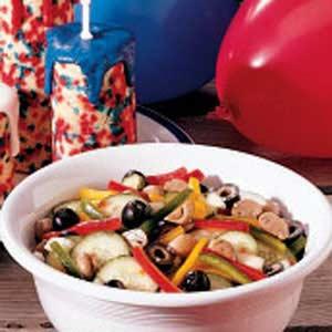 Three-Pepper Salad Recipe