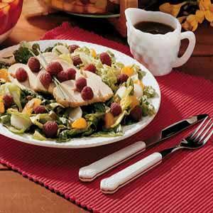 Turkey Salad with Raspberries Recipe