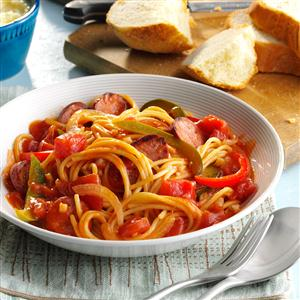 Spaghetti with Sausage and Peppers Recipe