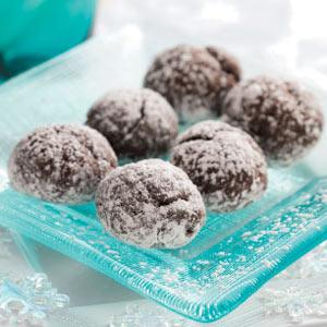 Chocolate Snowball Cookies Recipe