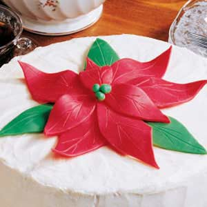 Edible Poinsettia Christmas Clay Recipe