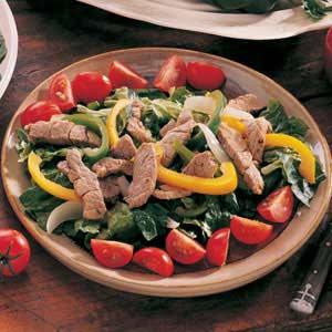 Warm Fajita Salad Recipe