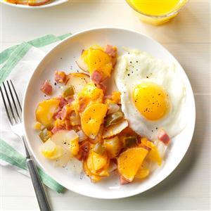 Cheesy Ham & Potato Packet Recipe