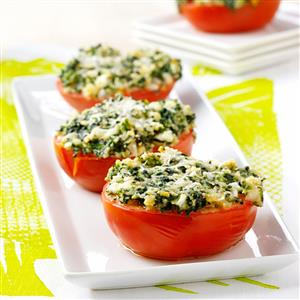 Spinach-Topped Tomatoes Recipe