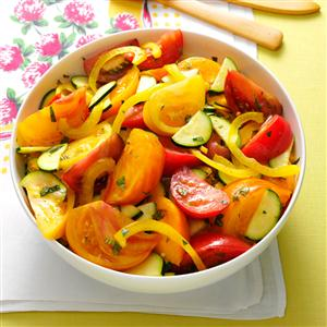 Heirloom Tomato & Zucchini Salad Recipe